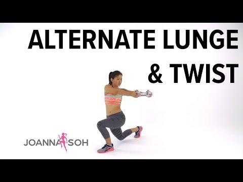 How to do Alternate Lunge & Twist | Joanna Soh