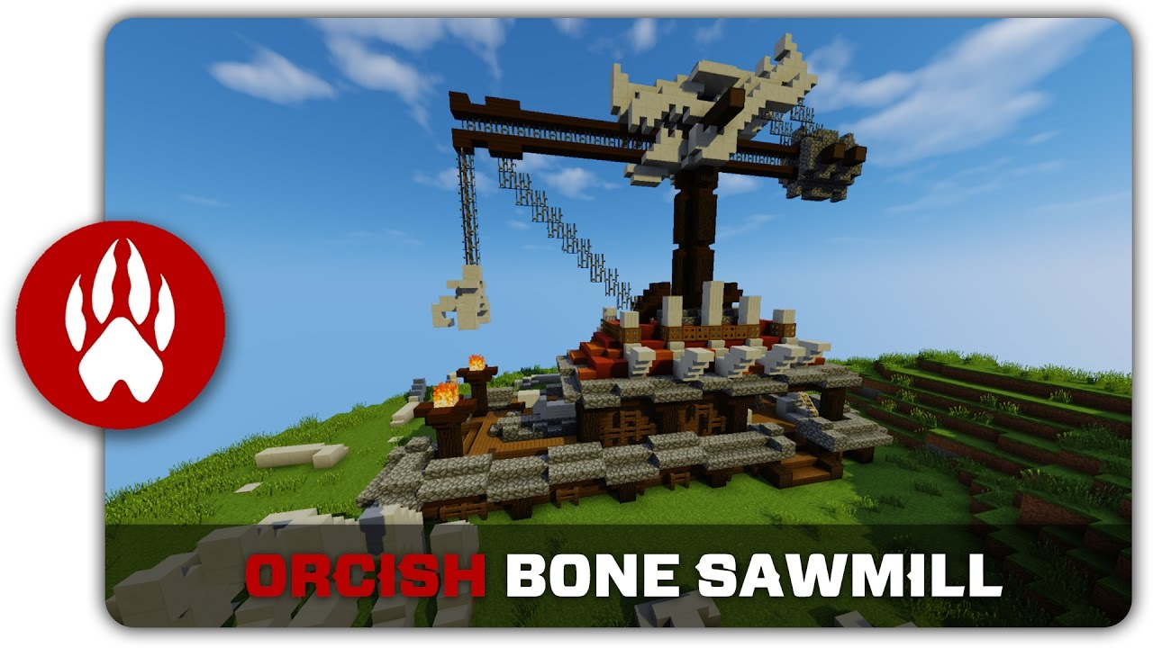 minecraft building tutorial how to build an orcish bone
