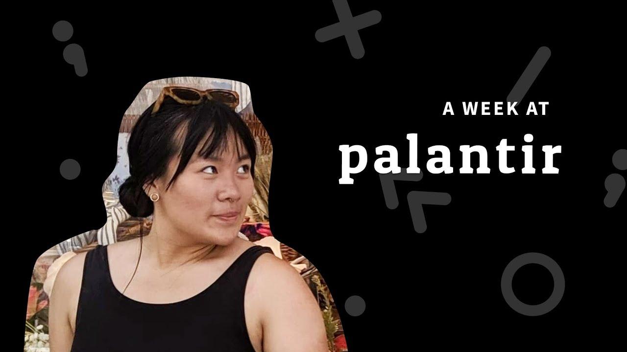 A Week at Palantir: Product Design Intern in New York City | 16 Weeks of  Internships