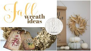 Natural Fall Wreaths, DIY Autumn wreaths from your own backyard!