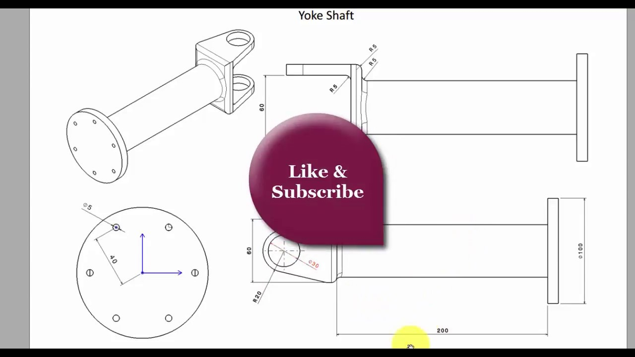 small resolution of designing car axle yoke shaft in catia v5