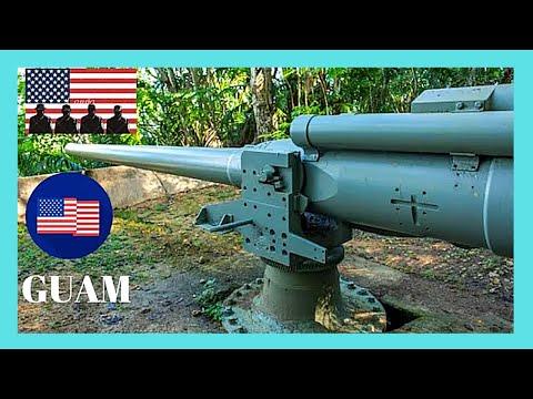 GUAM, the abandoned 1944 WW2 JAPANESE PITI GUNS that never fired a shot