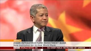 2015 06 29 BBC World News Impact with Yalda Hakim Danny Quah interview AIIB