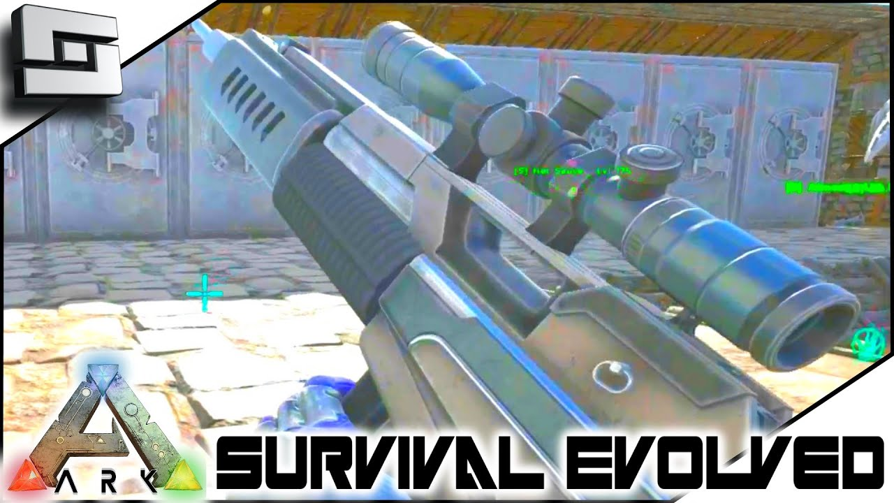 ARK: Survival Evolved   MASTERCRAFT SNIPER RIFLE! S3E65 ( Gameplay )    YouTube