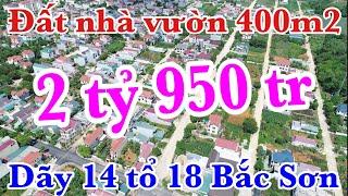 Bán đất nhà vườn 400m2 dãy 14 tổ 18 Bắc Sơn Thành phố Tam Điệp tỉnh Ninh Bình    Nhà hàng Trung Linh