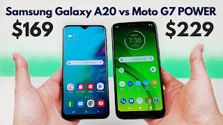 Samsung Galaxy A20 vs Moto G7 POWER - Who Will Win?