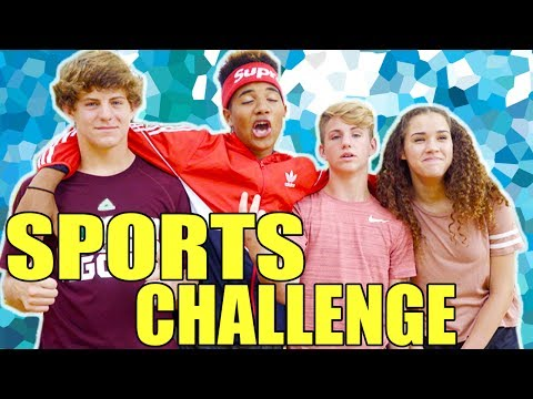 The Sports Challenge! (MattyBRaps & Gracie vs Justin & Josh)
