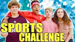 The Sports Challenge! (MattyBRaps & Gracie vs Justin & Josh)