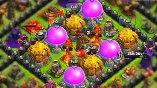 best clash of clans th8 and th9 farming strategy 2016