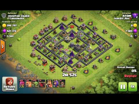 How to loot with goblin and archer - troop training cost only 66,000 elixir