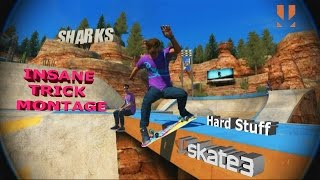 Insane Trick Montage Part 1 - Skate 3 Hard Stuff and Skillful tricks