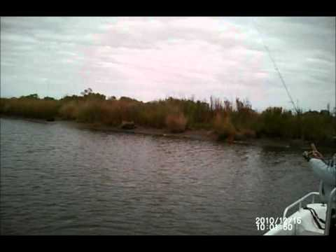 Redfishing with Capt. Wendy Billiot - The Bayou Woman Jan. 2, 2011 Duck Hunt (i-Kam Eyeware Video)