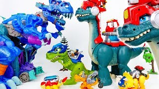 The Battle Between Giant Dinosaurs~! Chomp Squad Blaze Asaurus - ToyMart TV