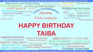 Taiba   Languages Idiomas - Happy Birthday