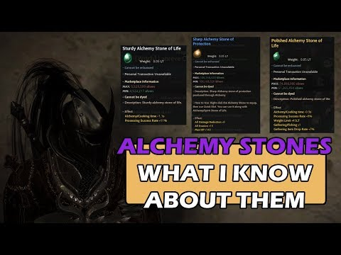 Alchemy Stones - Sharing What I Know - Black Desert Online SEA