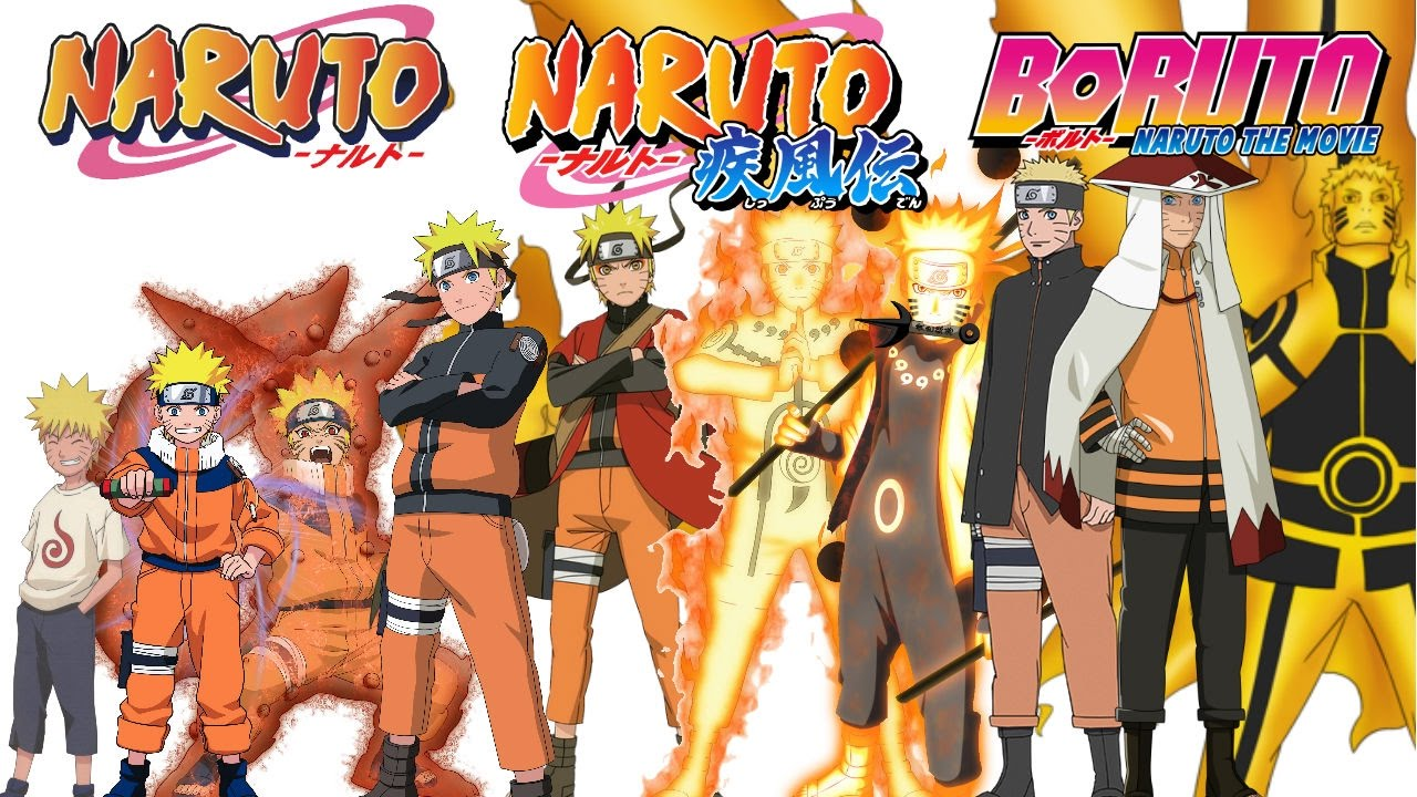evolution of naruto uzumaki all forms modes naruto naruto
