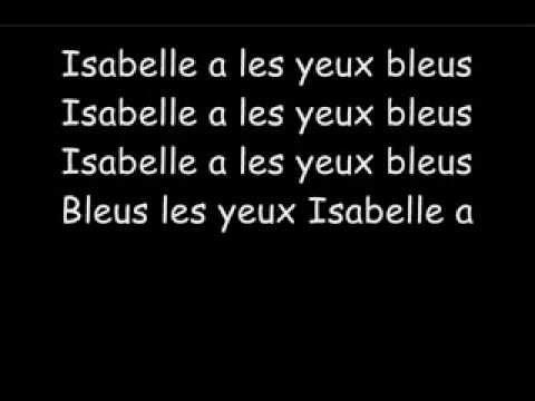 Les Inconnus   Isabelle a les yeux bleus
