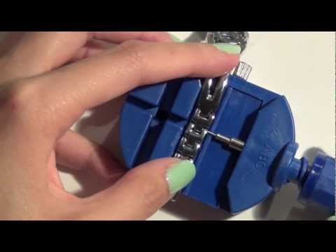 How to resize a watch using watch link remover - Natalie's Creations