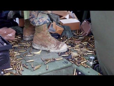 Marines M240G Machine Gun & M249 Squad Automatic Weapon Systems