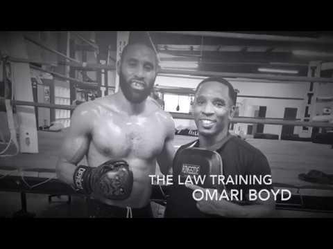 Omari Boyd Training with The Law