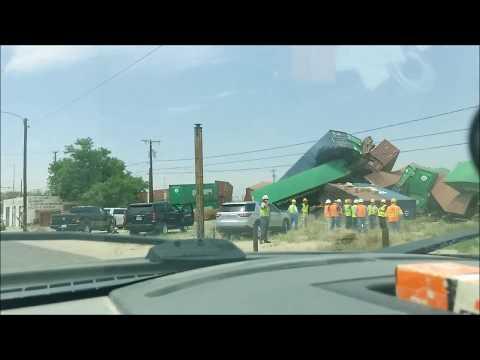 Train Wreck, Monahans, Texas April 18, 2018