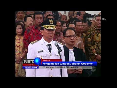 Prosesi Pelantikan Basuki Tjahaja Purnama Menjadi Gubernur DKI Jakarta