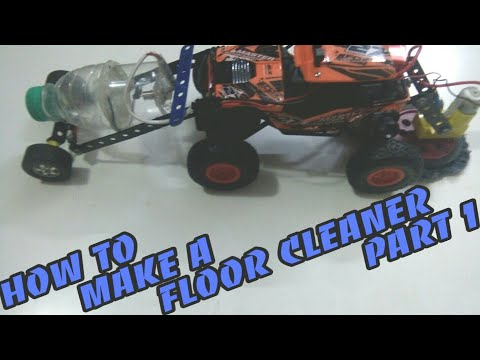How to make a floor cleaner from rc car (part1)