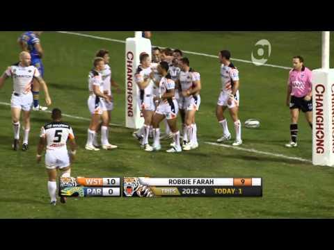 NRL 2013: Wests Tigers vs. Parramatta Eels Trial Match [Highlights]