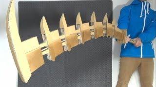 BLEACH/蛇尾丸を作る。How to make ZABIMARU with cardboard.