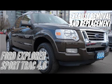 Ford Explorer/sport trac 4.0 exhaust removal and replacement how to video includes problems