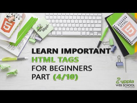 Learn SOME IMPORTANT HTML TAGS | HTML TAGS Tutorial for Beginners (Part 4/10) |  ZYPPIA WEB SCHOOL thumbnail