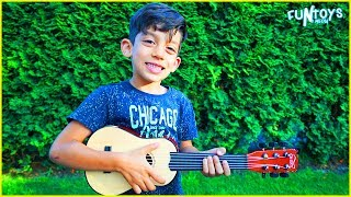 Jason and Brother Pretend Play with Musical Instruments Toys for Kids