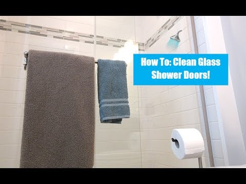 How To: Clean Shower Doors | Cleaning With Vinegar