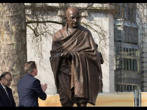 Mahatma Gandhi Stands Tall at London's Parliament Square