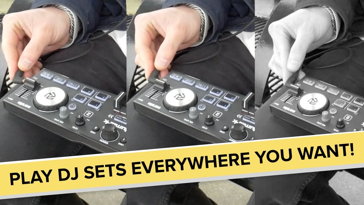 The Numark DJ2GO2 Touch lets you play everywhere you want!
