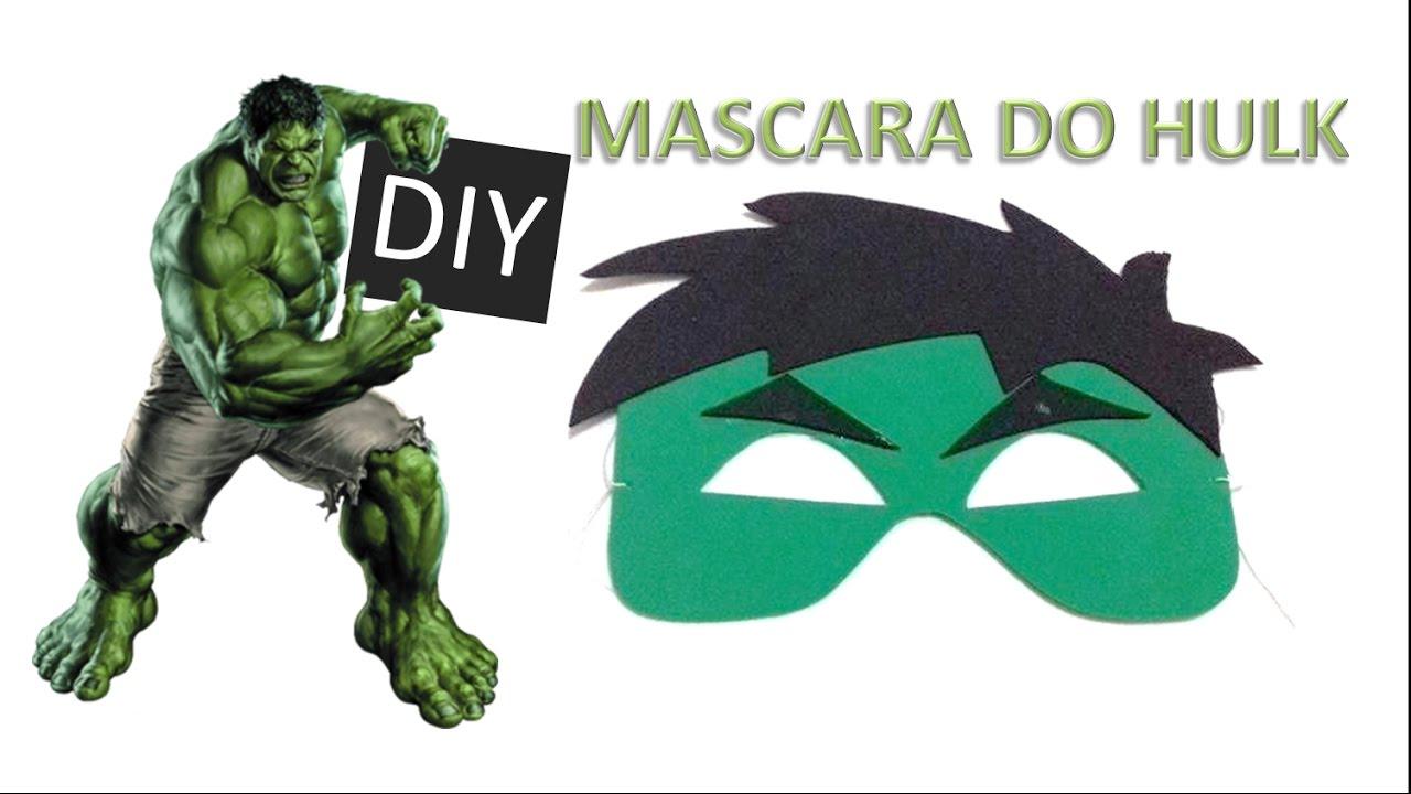 Como Fazer A Mascara Do Hulk Youtube
