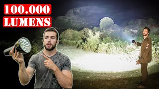 La Linterna Más Potente Del Mundo  100.000 LUMENS  Imalent MS18