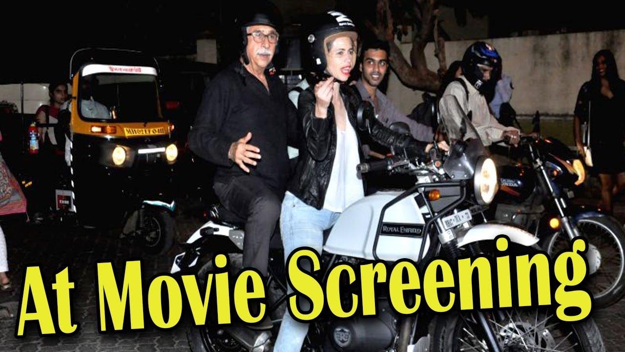 Download Naseeruddin Shah and Kalki Koechlin At The Screening Of Film Waiting.