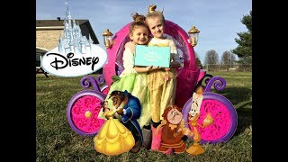 Princess Carriage Ride On Powerwheels FUN! Surprise Package from DISNEY in Mailbox.!