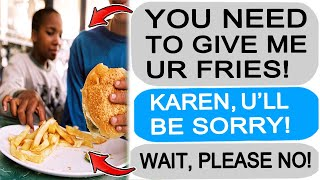 r/Entitledparents Karen MOTHER Takes my Food, I GET REVENGE!
