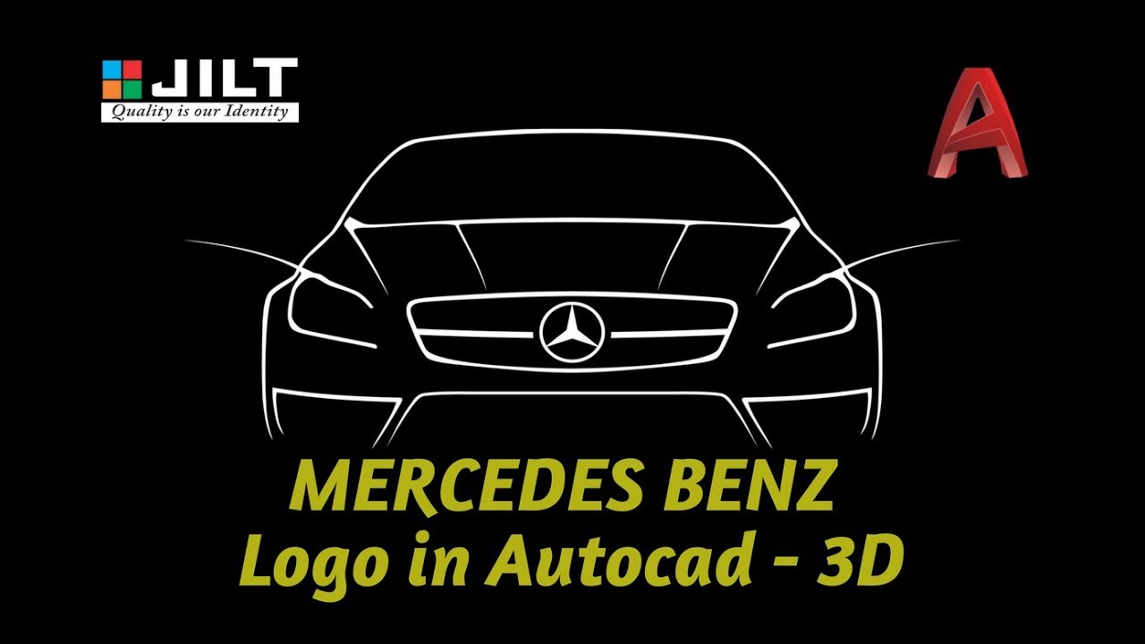 Create mercedes benz logo in autocad 3d youtube for Mercedes benz creator