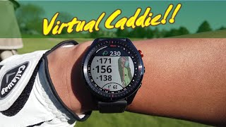 Garmin Approach S62 - on course action of watch features like Virtual Caddie!! Best golf watch!!