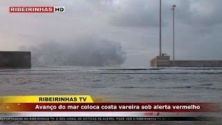 Avanço do mar coloca costa vareira sob alerta vermelho