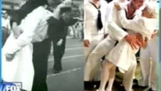 Famous World War II Kiss revealed