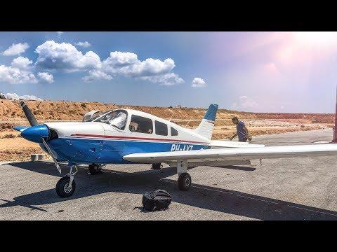 EPIC PA28 Flying Adventure - Exploring Greek Islands | ATC Audio