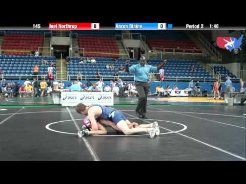 Fargo 2012 145 Round 5: Joel Northrup (Iowa) vs. Aaron Blaine (Washington)