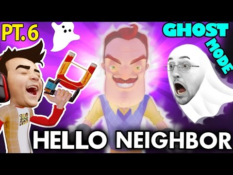Thumbnail: HE'S PEEING!! Nasty HELLO NEIGHBOR GHOST MODE Mod! Alpha 1 & 2 Tips & Tricks (FGTEEV Alpha 3 Next!)