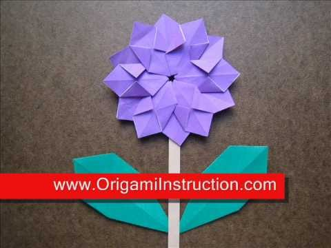 How To Fold Origami Modular Flower Origamiinstruction Youtube
