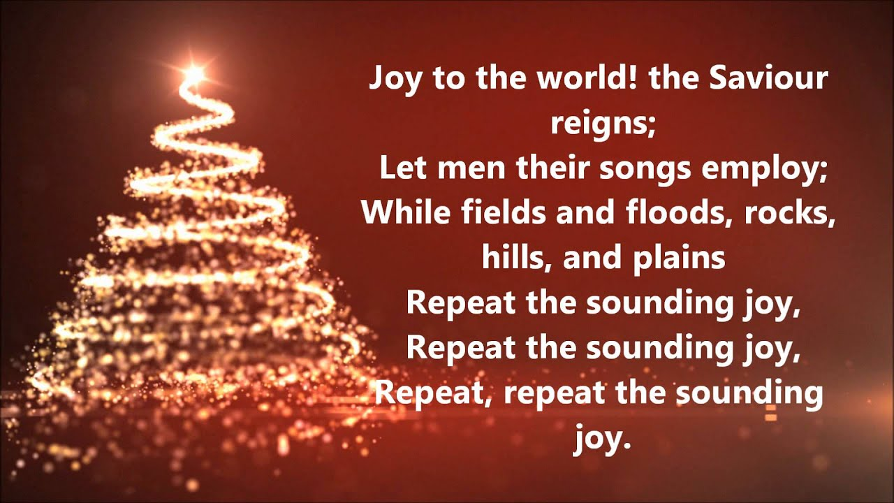 David Archuleta - Joy to the World (Lyrics) - YouTube