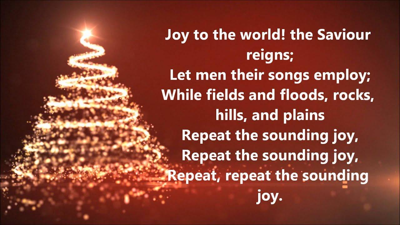 david archuleta joy to the world lyrics youtube